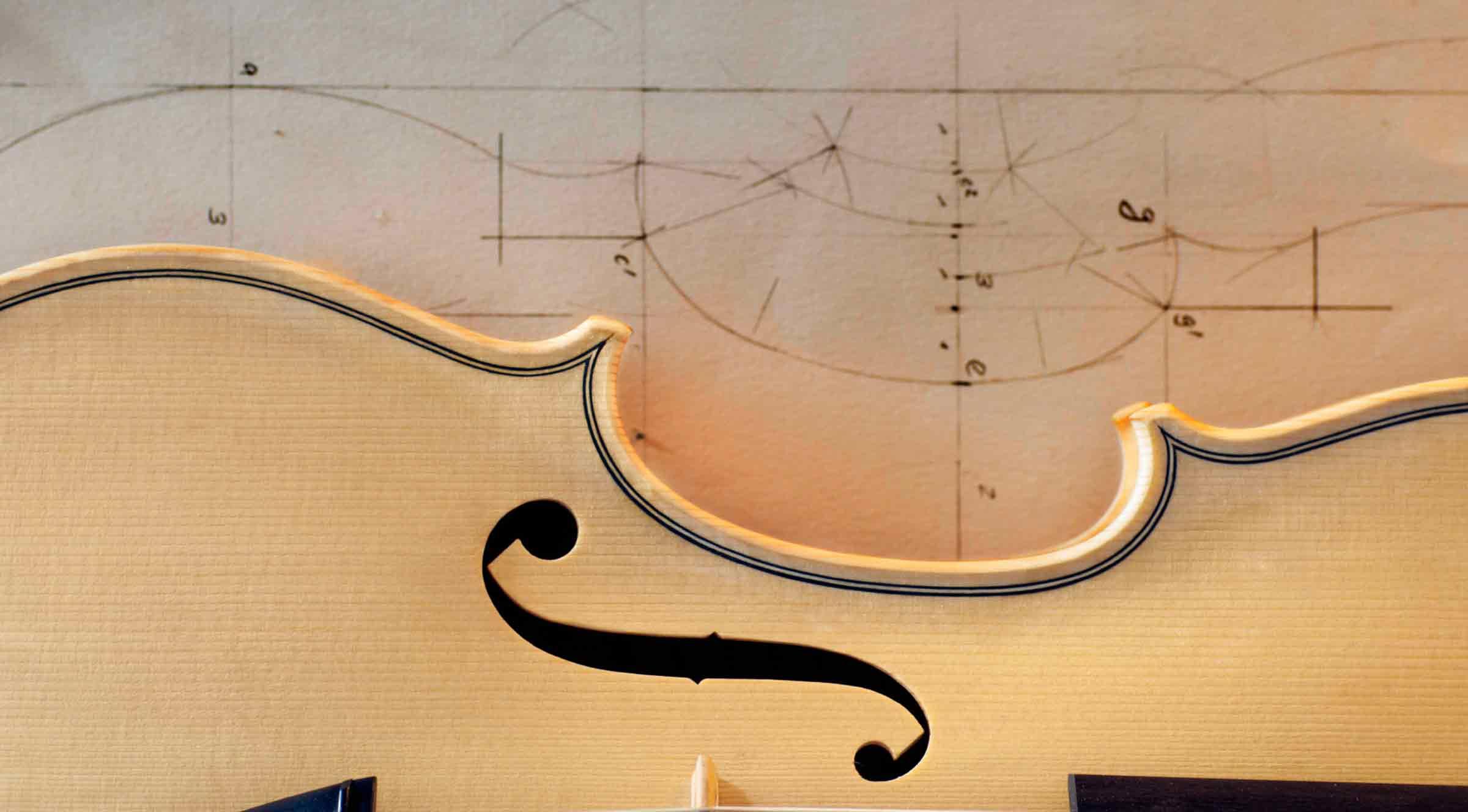 Geige Rohholz